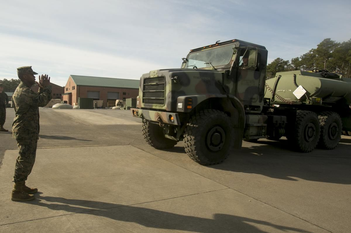 Motor transport Marines train to become semi refueler operators 141218-M-CU214-687
